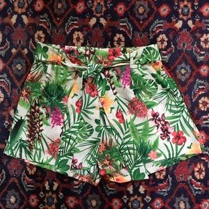 Palm Leaf Floral Shorts